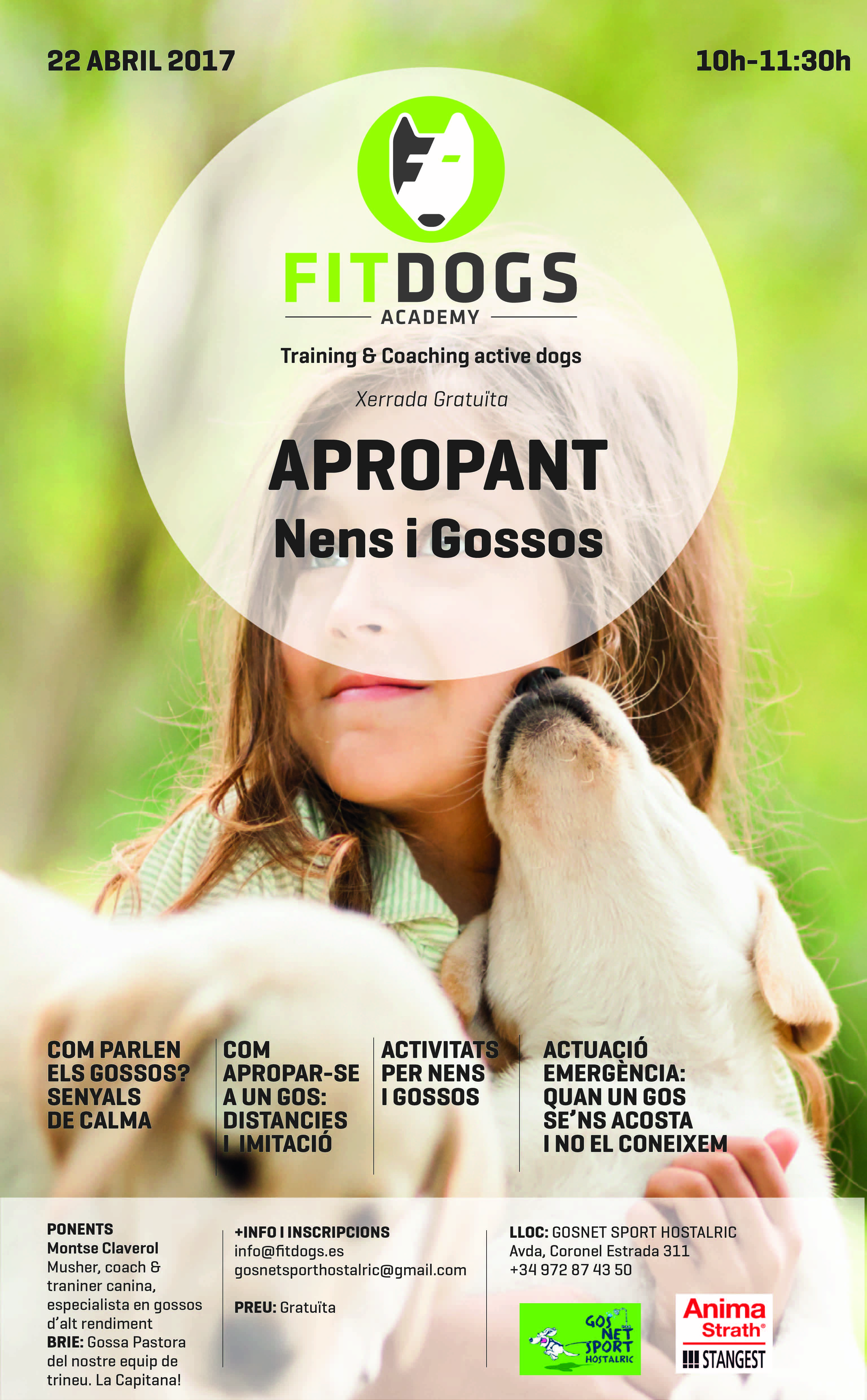 Poster Xerrada Apropant nens i gossos-01