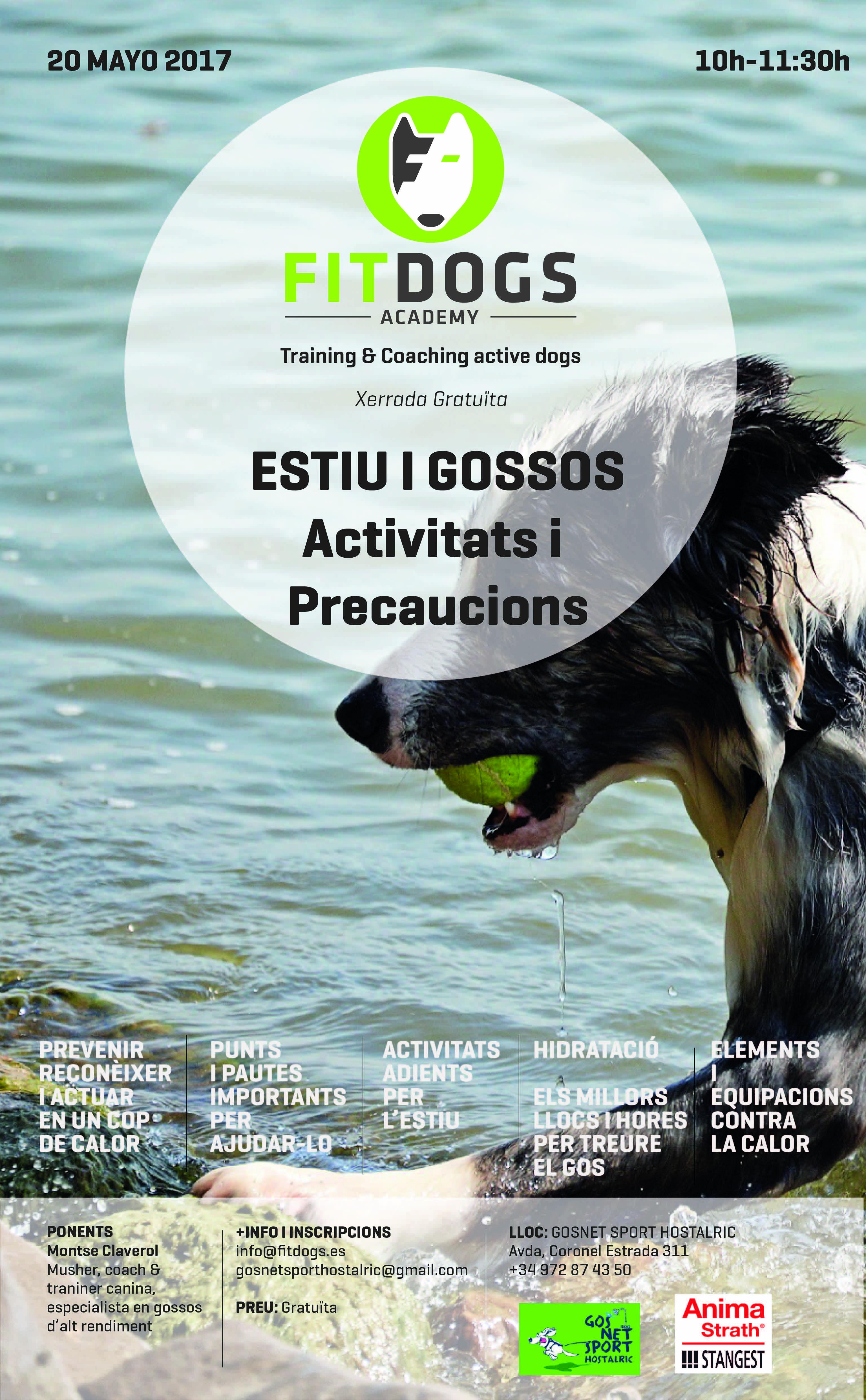 Poster Xerrada Estiu i Gossos – Activitats i Precaucions WEB-01