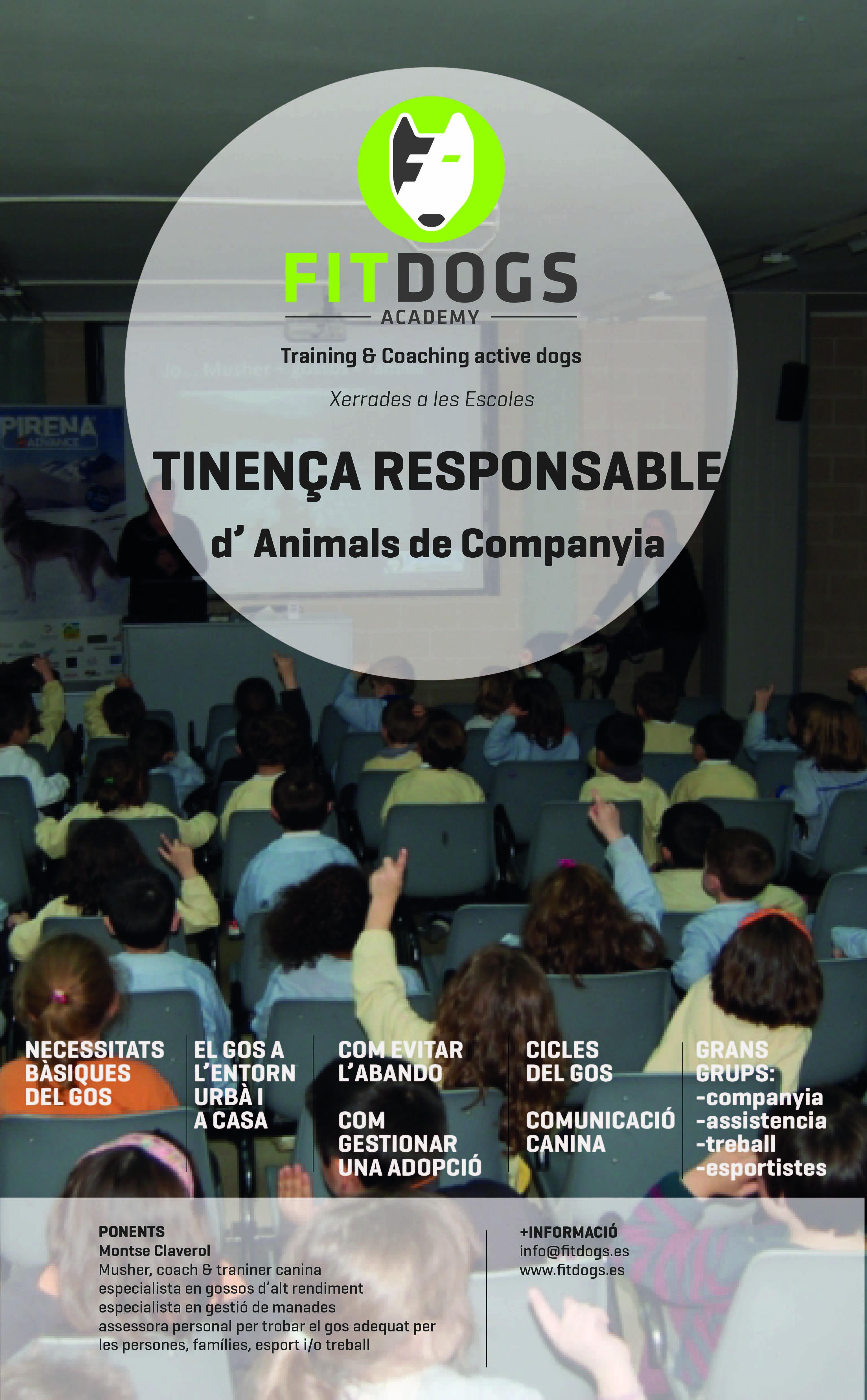 Poster Xerrades Tinença Responsable dels Animals de Companyia a les Escoles WEB-01