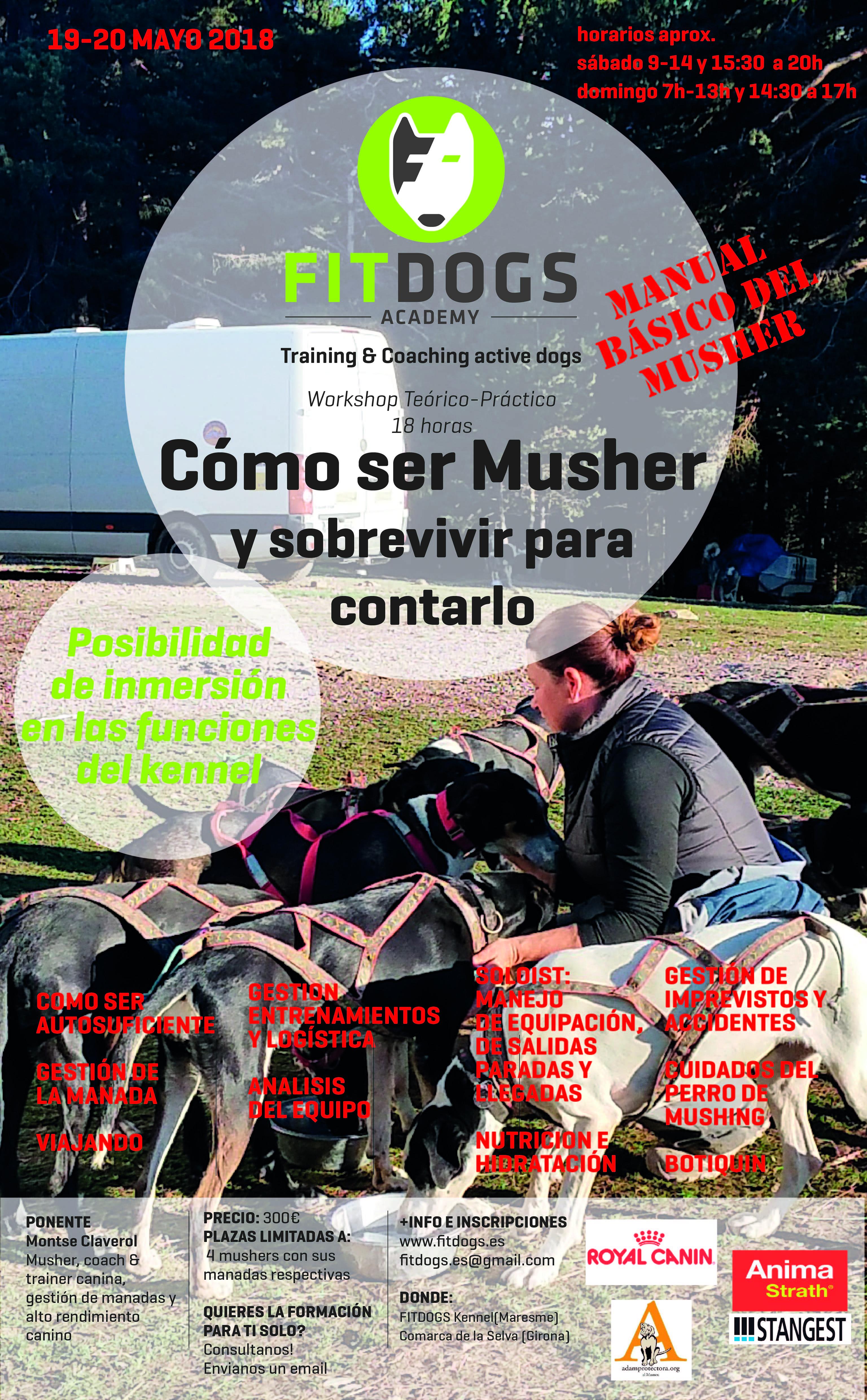 Poster Workshop COMO SER MUSHER Y SOBREVIVIR PARA CONTARLO MAYO 2018 web-01